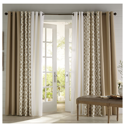 Make The Most Of Your Living Room And Dining Room Combo Patio Door Window Treatments Sl Window Treatments Living Room Dining Room Curtains Curtains Living