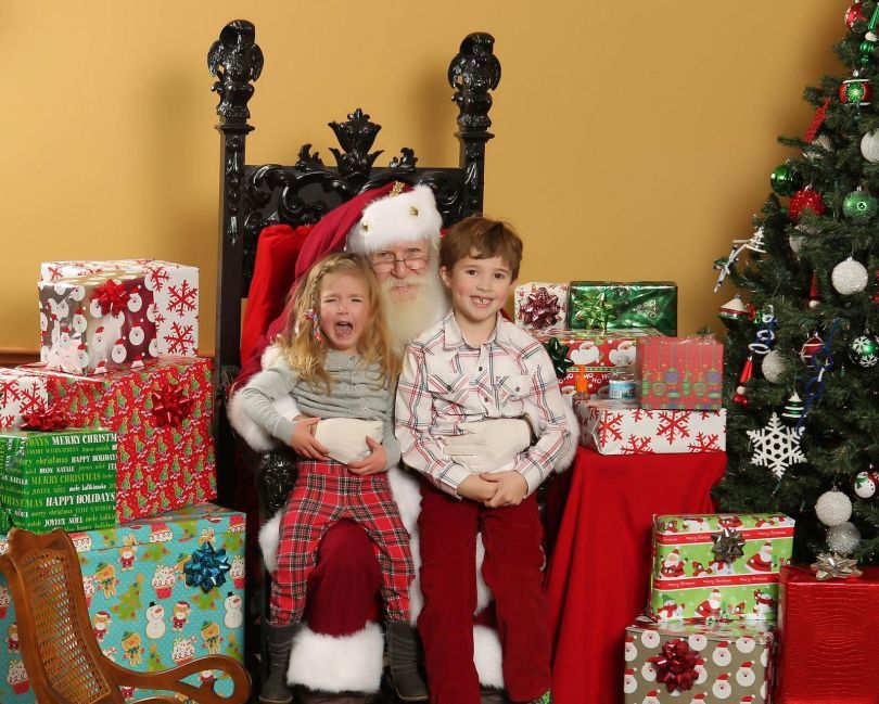 Not thrilled with Santa!