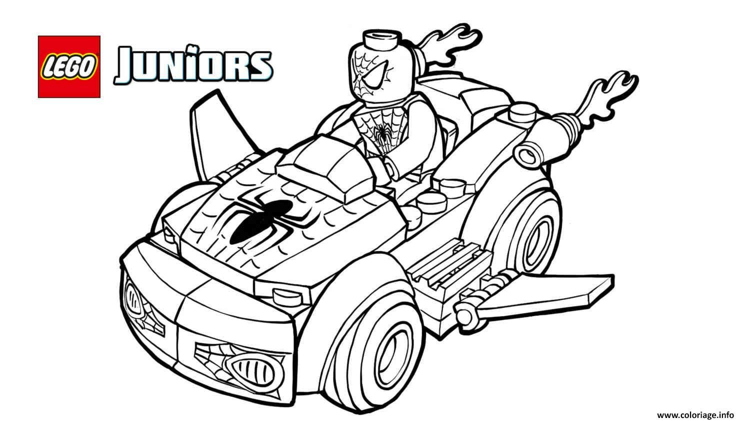 lego spiderman 2 voiture lego coloriage