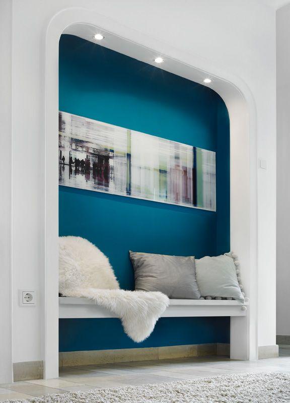 trendfarbe lagune ? schÖner wohnen-farbe | dream home | pinterest ... - Wandfarbe Petrol Wirkung