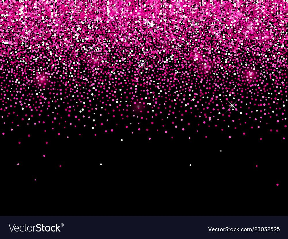 Rose Pink Gold Glitter On Black Background Of Vector Confetti Sparkle Texture And Light Sh Sparkles Background Gold Glitter Background Black Glitter Wallpapers
