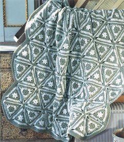 Angular Granny Crochet Throw, As Seen on Knitting Daily TV Episode 513 - Crochet Me    triangle afgan blanket