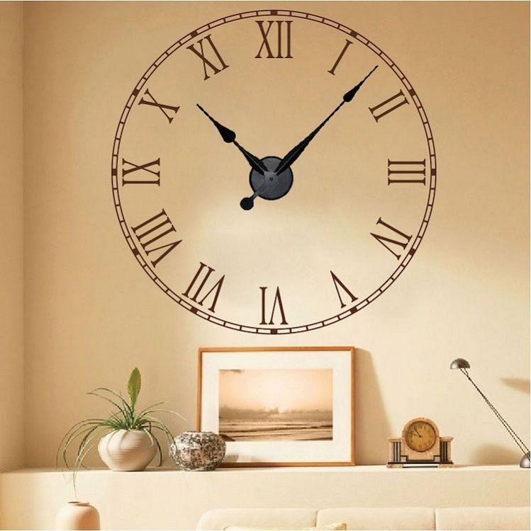 Rustic Clock Decor _ Trendy Wall Designs | Cool Wall Decals ...