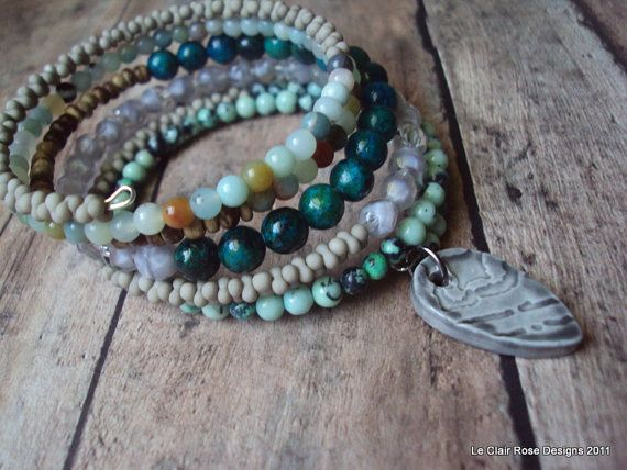 Shades of Gray Bracelet by LeClairRoseDesigns on Etsy, $30.00