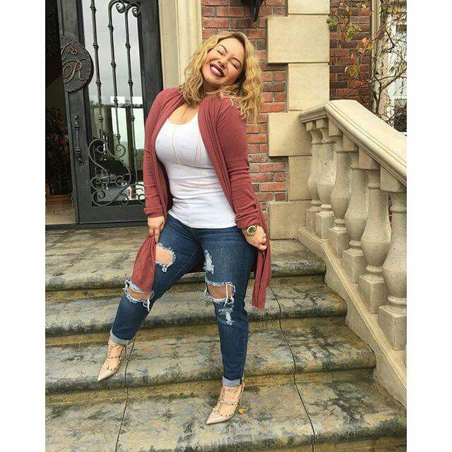 Chiquis Rivera Spring Fashionnova Denim Plus Size Winter Outfits Spring Outfits Curvy Women Casual