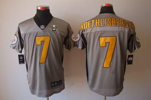 falcons keanu neal jersey nike steelers 7 ben roethlisberger grey shadow with 80th patch mens