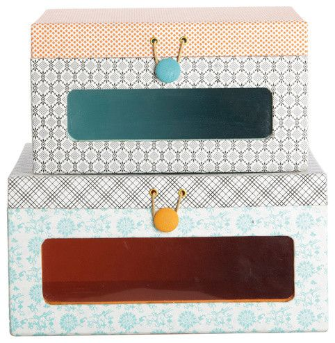 Merveilleux Window Storage Boxes Ella Contemporary Storage Boxes   Patterned