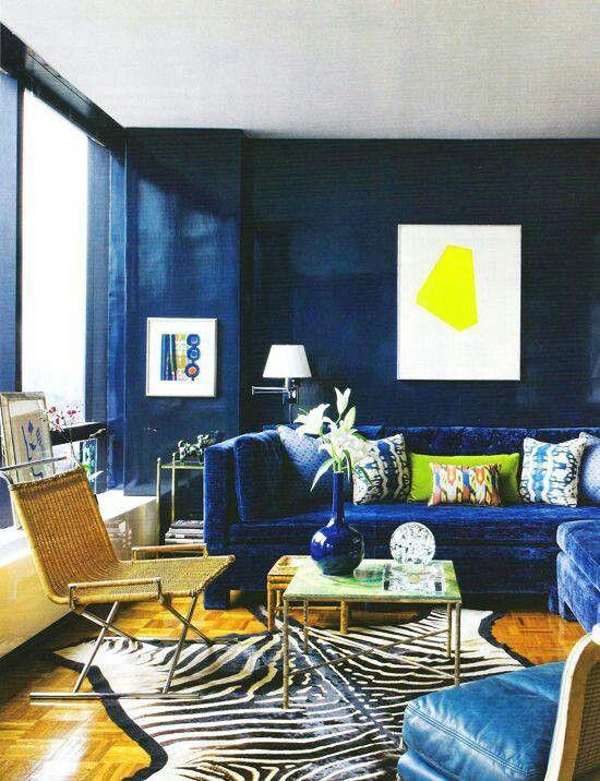 Cobalt Blue Velvet Yellow Blue Living Room Navy Blue Living Room Blue Rooms