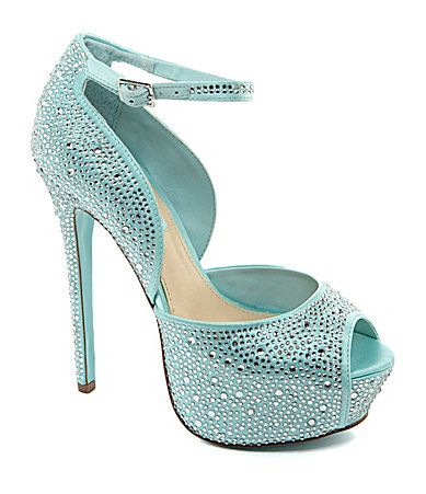 fcdcf1e934 I think I found my wedding shoes.. but in Champang Blue by Betsey Johnson  Kiss Platform Pumps #Dillards