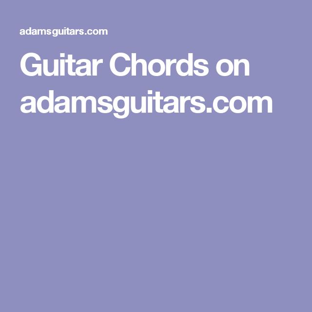 Guitar Chords on adamsguitars.com