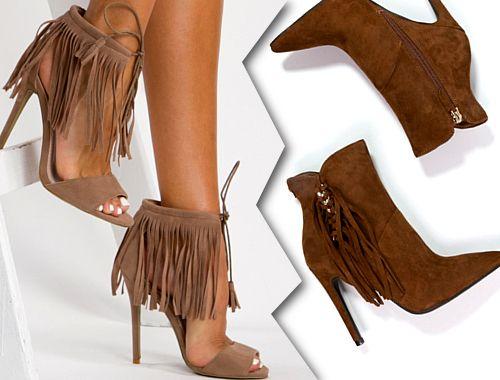 Buty Z Fredzlami Jesien Zima 2015 2016 Botki Z Fredzlami Fredzle Trendy Shoes Heels Fashion