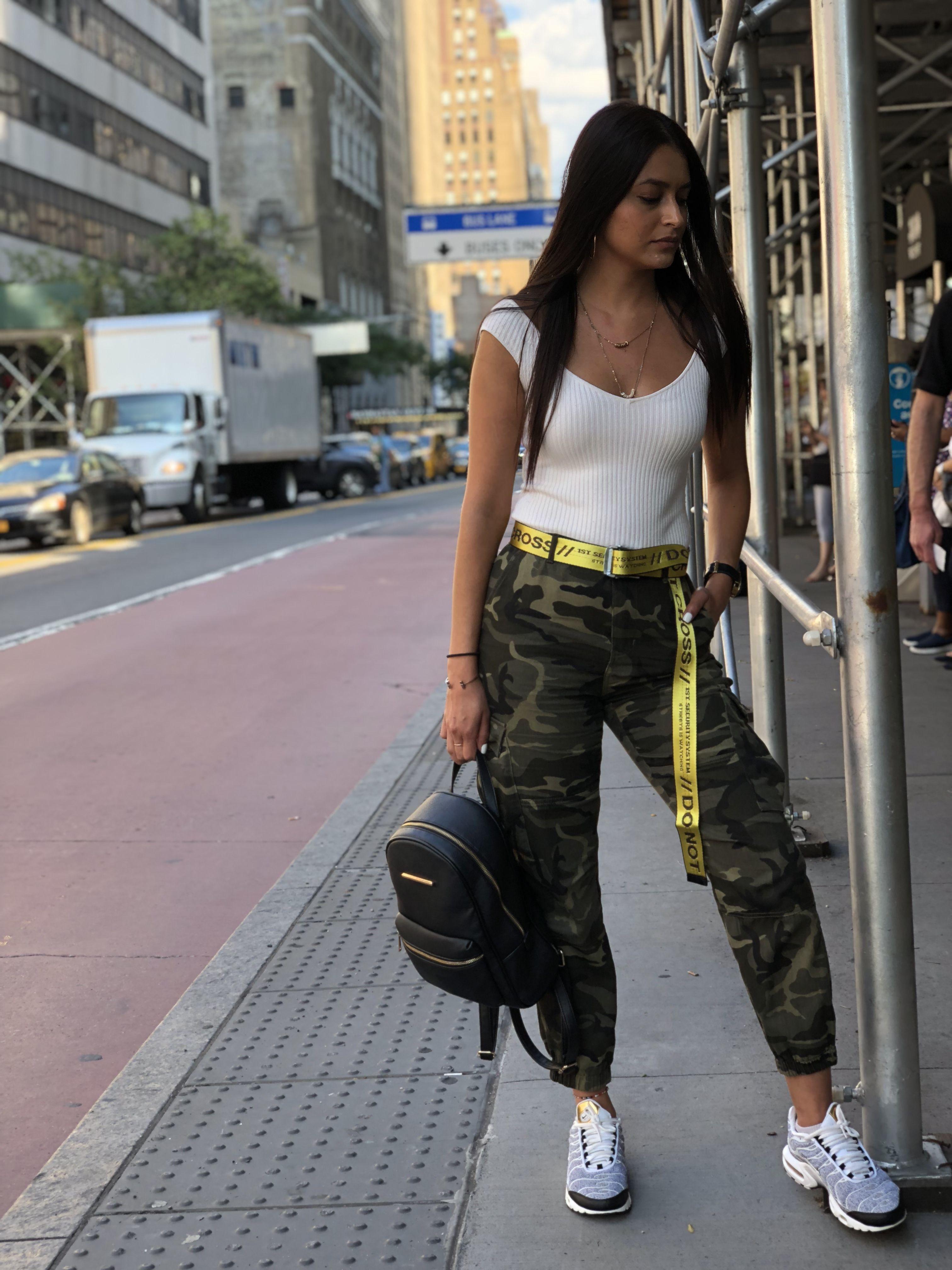 Offwhite Camo Style Off White Belt Fashion Womens Fashion Edgy