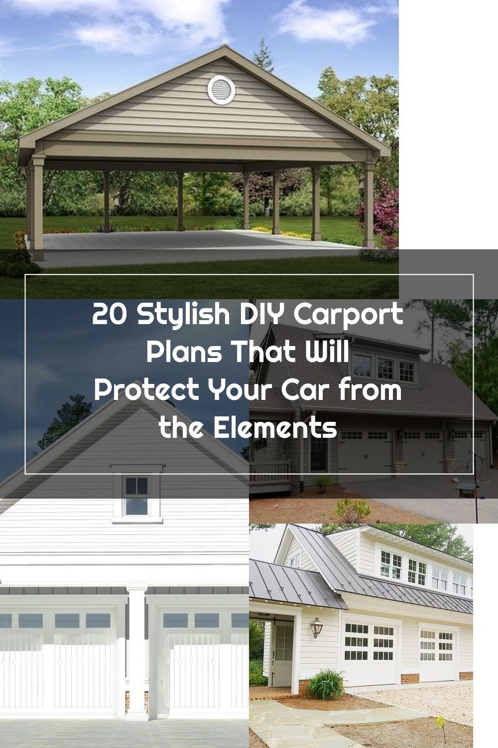 Here are 20 different carport plans to help you build your