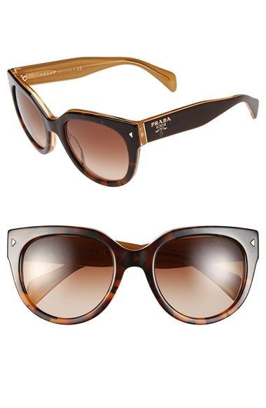 5811c6d76ddb Free shipping and returns on Prada 54mm Cat Eye Sunglasses at Nordstrom.com.  Retro-inspired cat-eye frames are updated in a bold silhouette and  fashioned ...