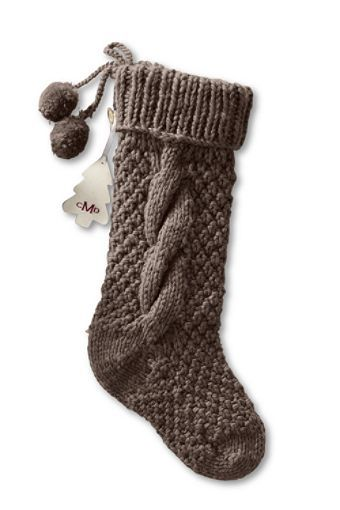 Chunky Cable Knit Christmas Stocking From Lands End Can T Seem To Find The Knitted Christmas Stockings Knitted