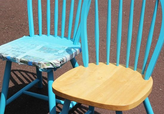 How to spray paint wood chairs. How to spray paint wood chairs   Refinishing kitchen chair ideas