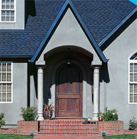 Best Tudor Home Exterior With Blue Asphalt Roof Shingles 640 x 480