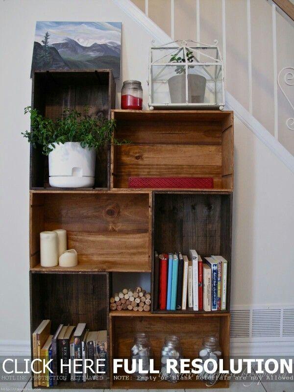 Easy Stackable Shelves Bookshelves Diy Bookcase Diy Homemade Bookshelves