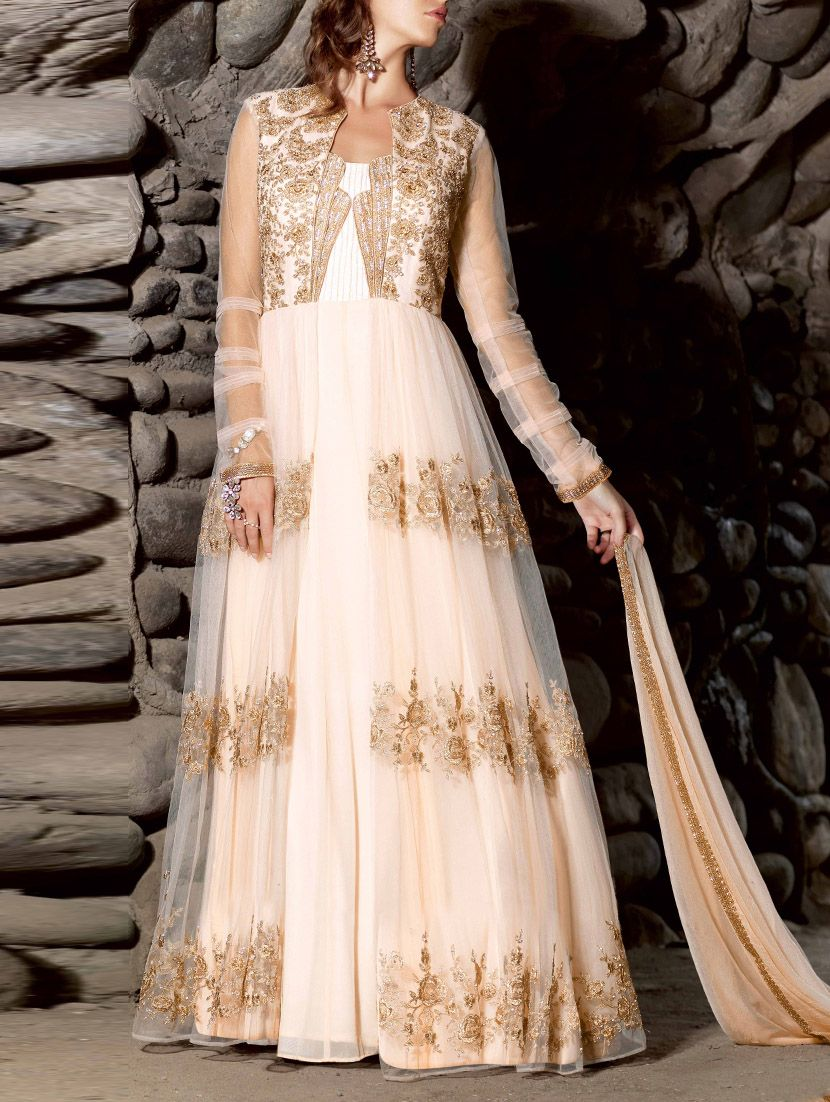 Vh Fashion White Embroidered Georgette Dress Material Online In India At Best Price Unsched Brand