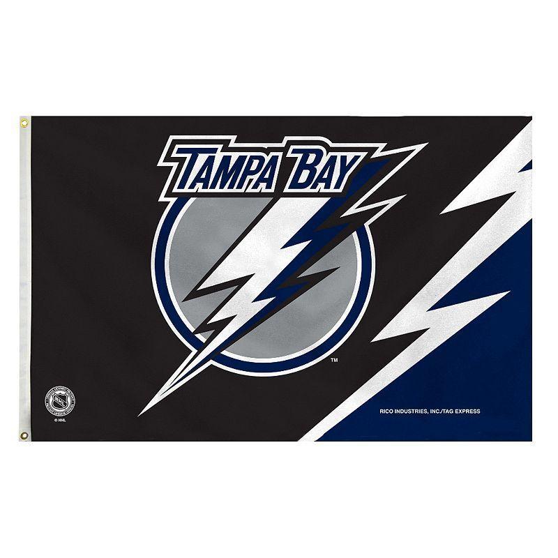 Tampa Bay Lightning Black Banner Flag, Multicolor