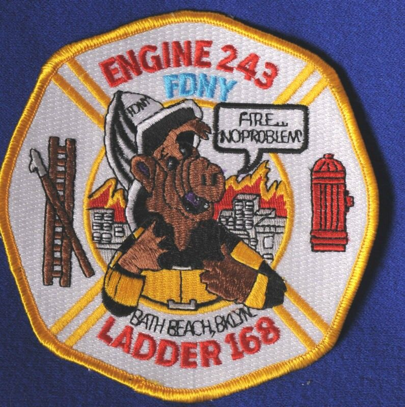 ALF FDNY Sew On Badge | FDNY Patches | Fire badge, Police