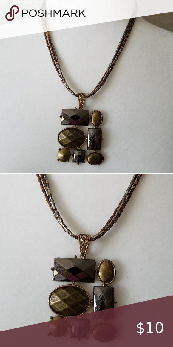 Metallic Necklace Metallic Decorative Necklace Met