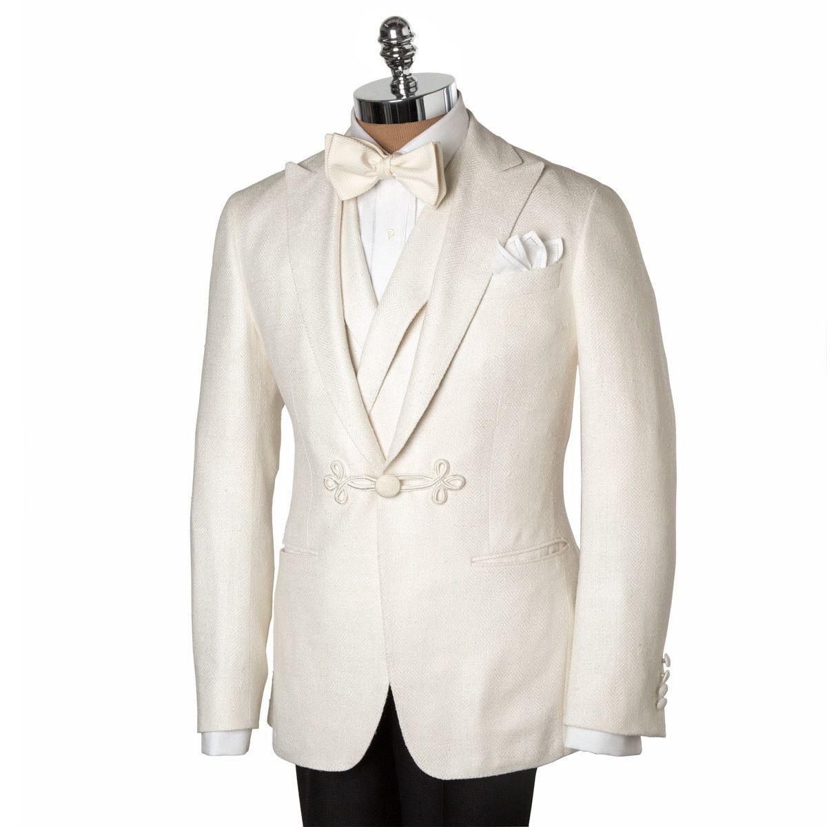 4ae94eb7573 PaulStuart CREAM SILK HERRINGBONE DINNER JACKET | Man-Ware/Wear in ...