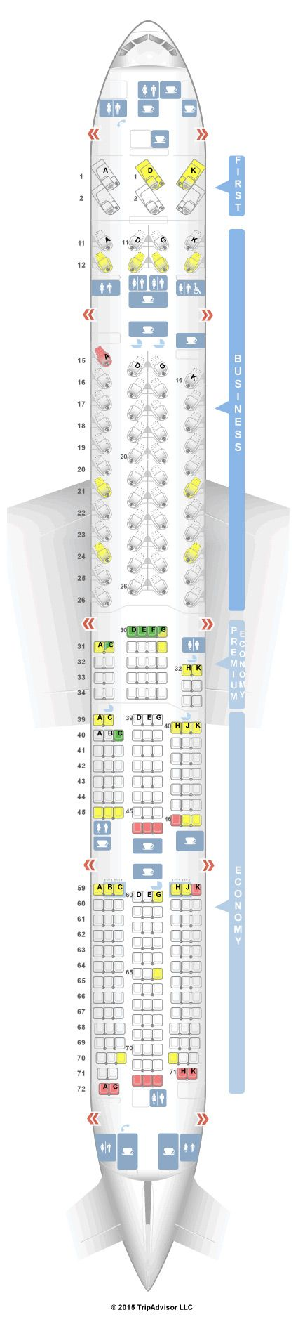 Cathay Pacific Seat Map SeatGuru Seat Map Cathay Pacific Boeing 777 300ER (77H) Four Class  Cathay Pacific Seat Map