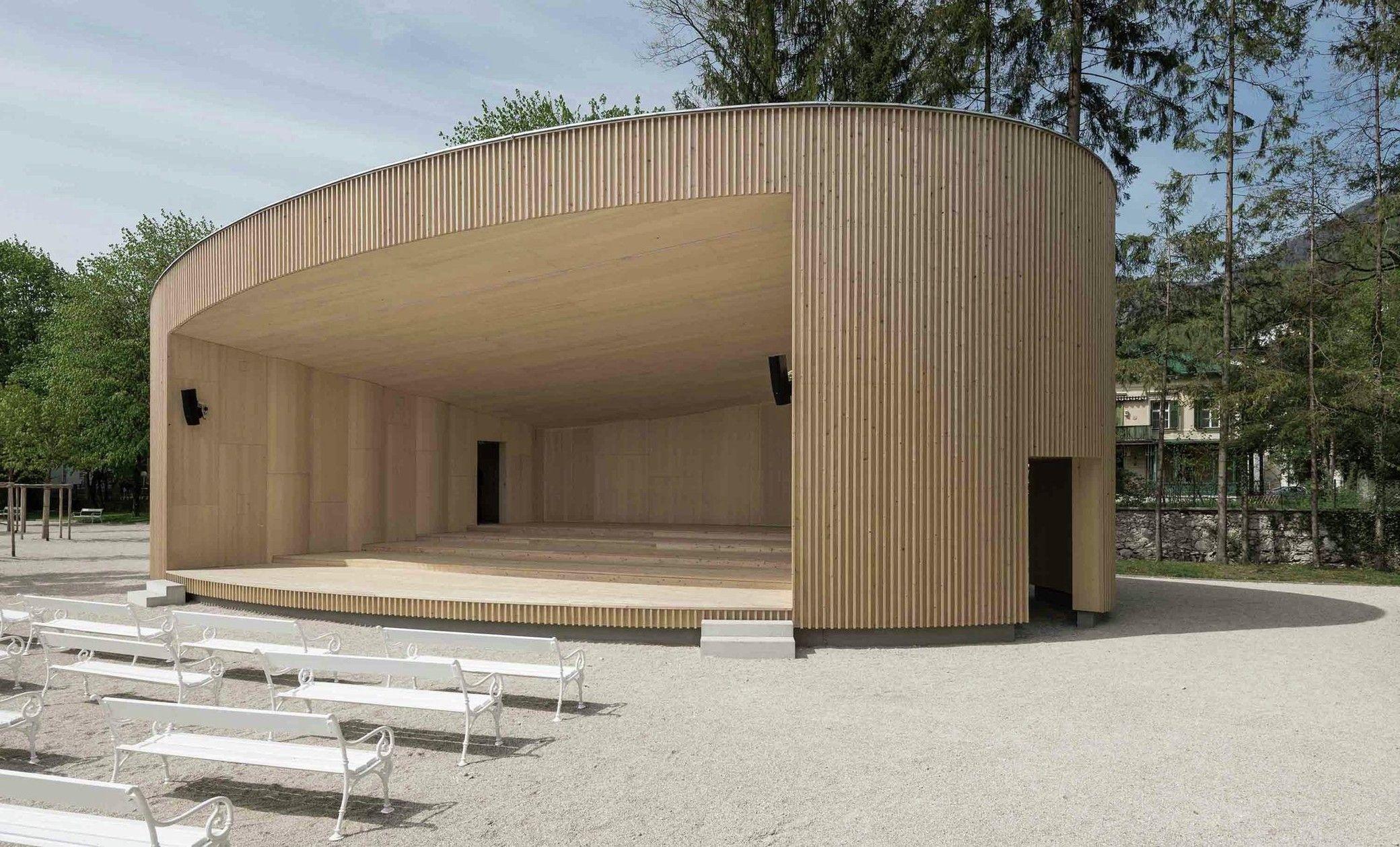 Music Pavilion Bad Ischl Landshaftnaya Arhitektura Arhitektura I