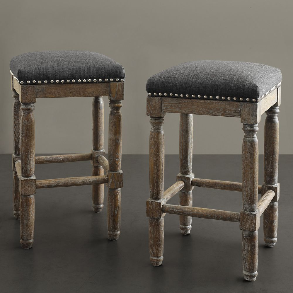 Renate Grey Counter Stools (Set of 2) | Ideas de cocina, Taburetes ...