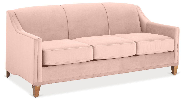 Erin Sleeper Sofa Blush Pink Velvet Sofas Sectionals
