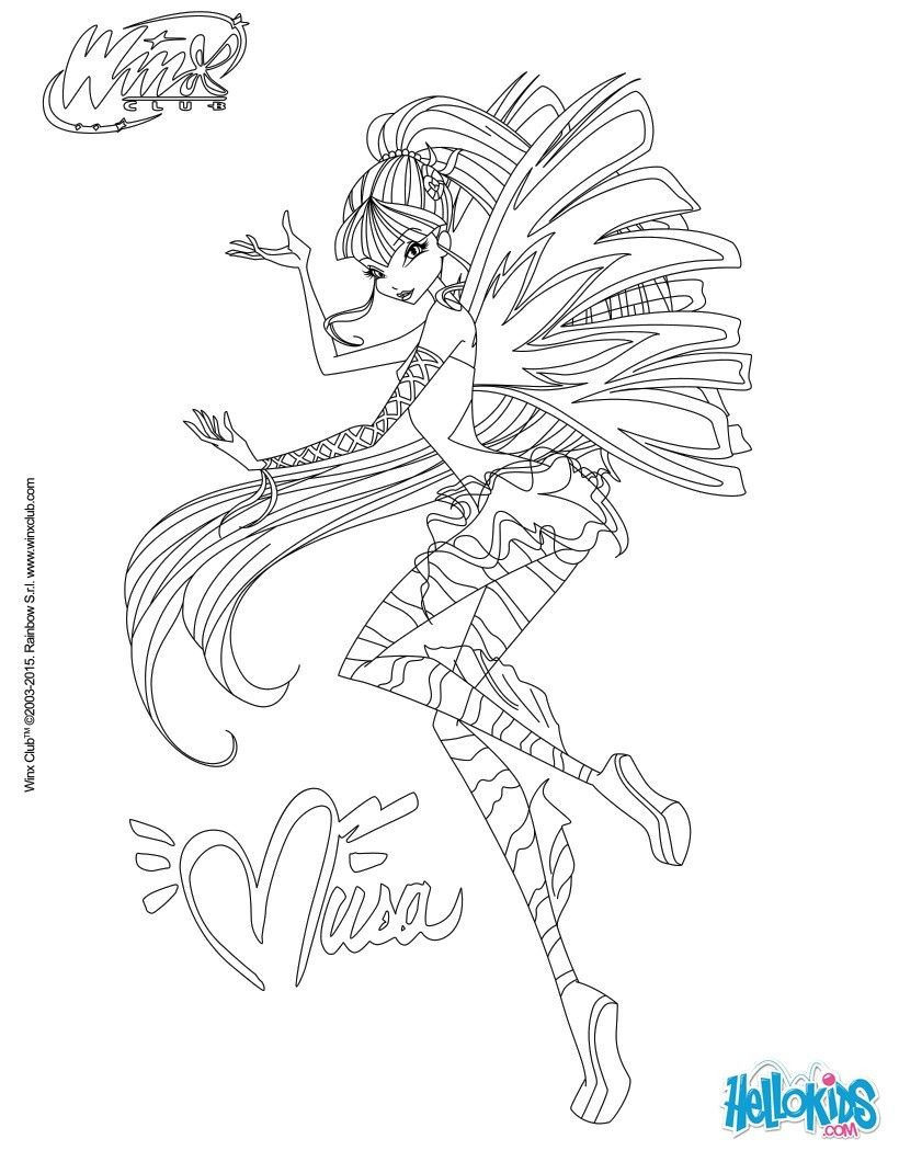 musa transformation sirenix coloring page
