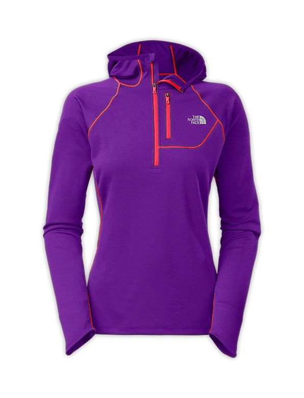 The North Face Women's Shirts & Tops WOMEN'S IMPULSE ACTIVE 1/2 ZIP HOODIE