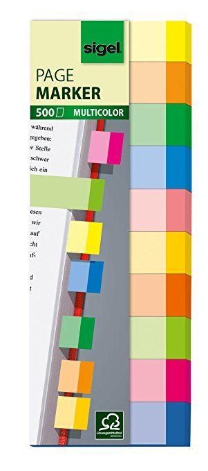 Sigel Hn682 Haftmarker Multicolor 500 Streifen 10 Farben Im