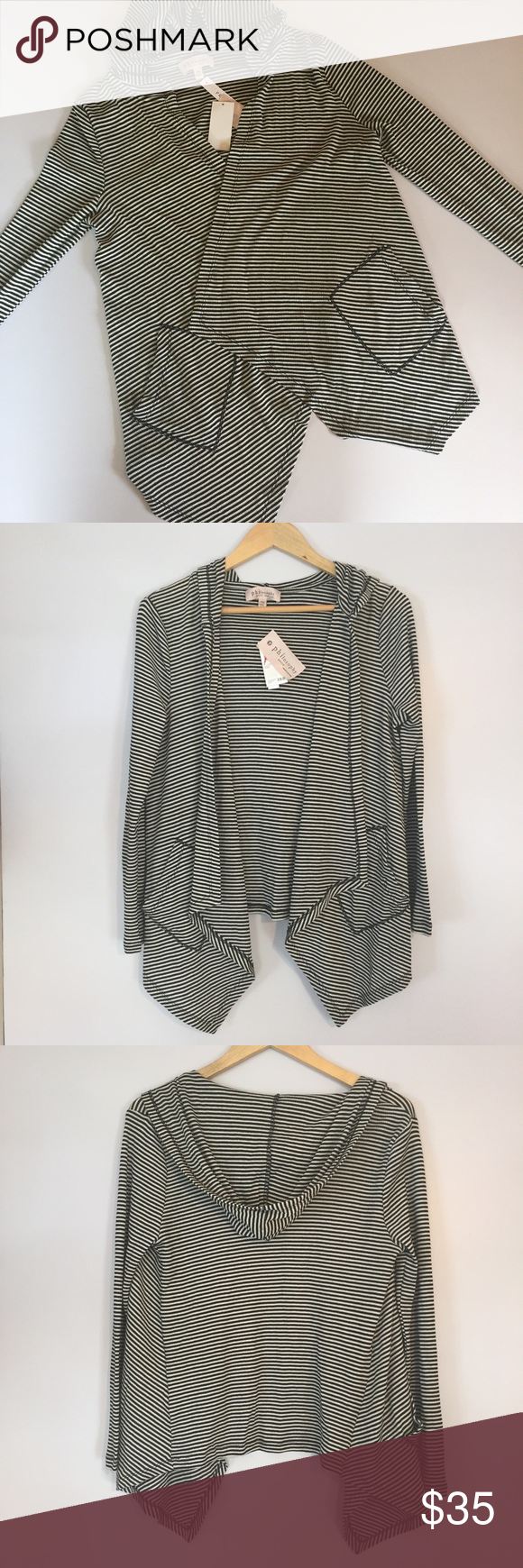 NWT philosophy petite hooded cardigan NWT | Pm, Sweater cardigan ...