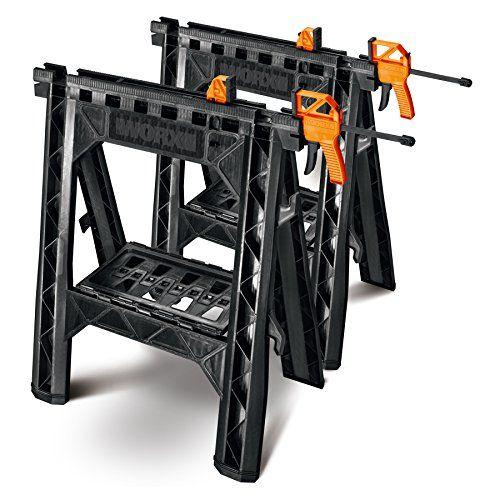 Worx Wx065 Clamping Sawhorses Worx Https Www Amazon Com Dp B00xpks6q2 Ref Cm Sw R Pi Dp X Utlbybpt7ae36 Sawhorse Woodworking Craftsman House Plan