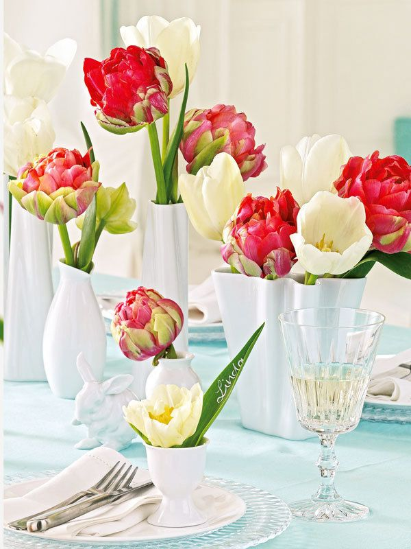tolle dekoideen mit tulpen romantic. Black Bedroom Furniture Sets. Home Design Ideas