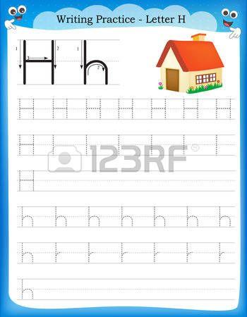 Pr ctica de escritura la letra H hoja de trabajo infantil para ...