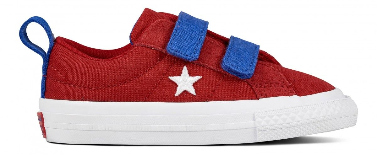 89c755537d3765 Converse Chuck Taylor All Star 2 Velcro Toddler Low Top Gym Red Hyper Royal  White