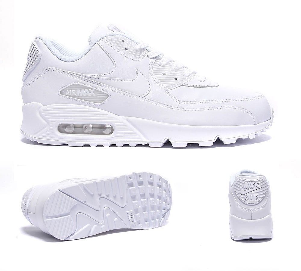 nike air max 90 leather trainers in white