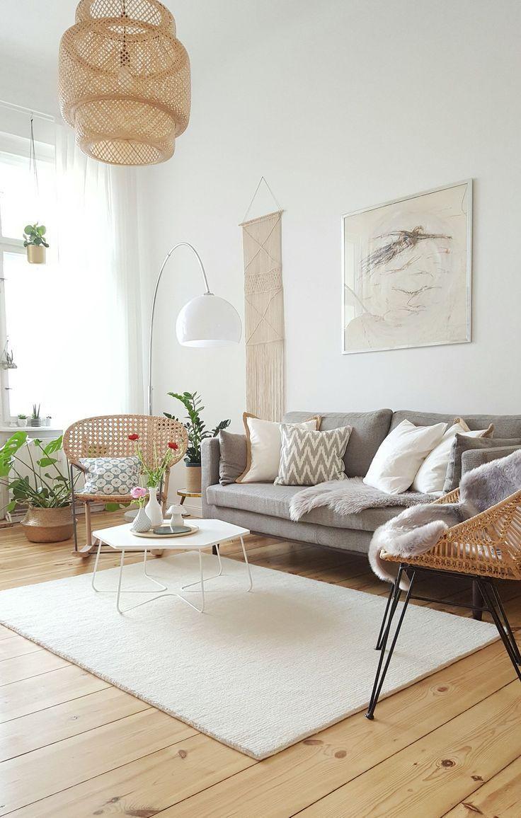 Skandinavische Wohnzimmer: Einrichtungstipps und Ideen in 19