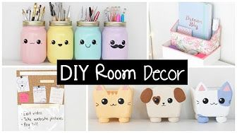 5 Diy Fall Room Decor Ideas How To Decorate Your Room For Autumn Youtube Room Diy Diy Room Decor School Diy