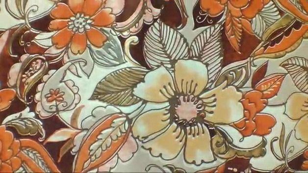 """Jersey Stoff """"Herbstblumen"""""""