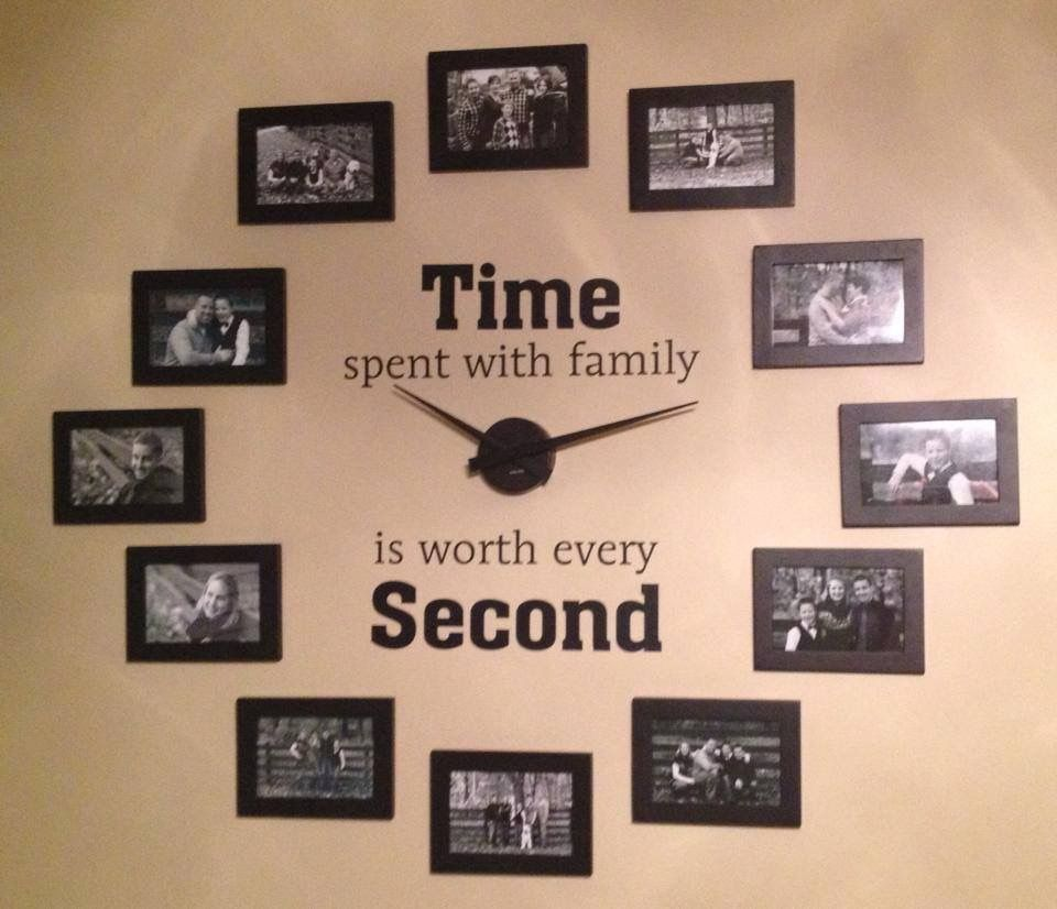 Pin by stephanie godmer on diy pinterest explore family clock photo wall clocks and more jeuxipadfo Images