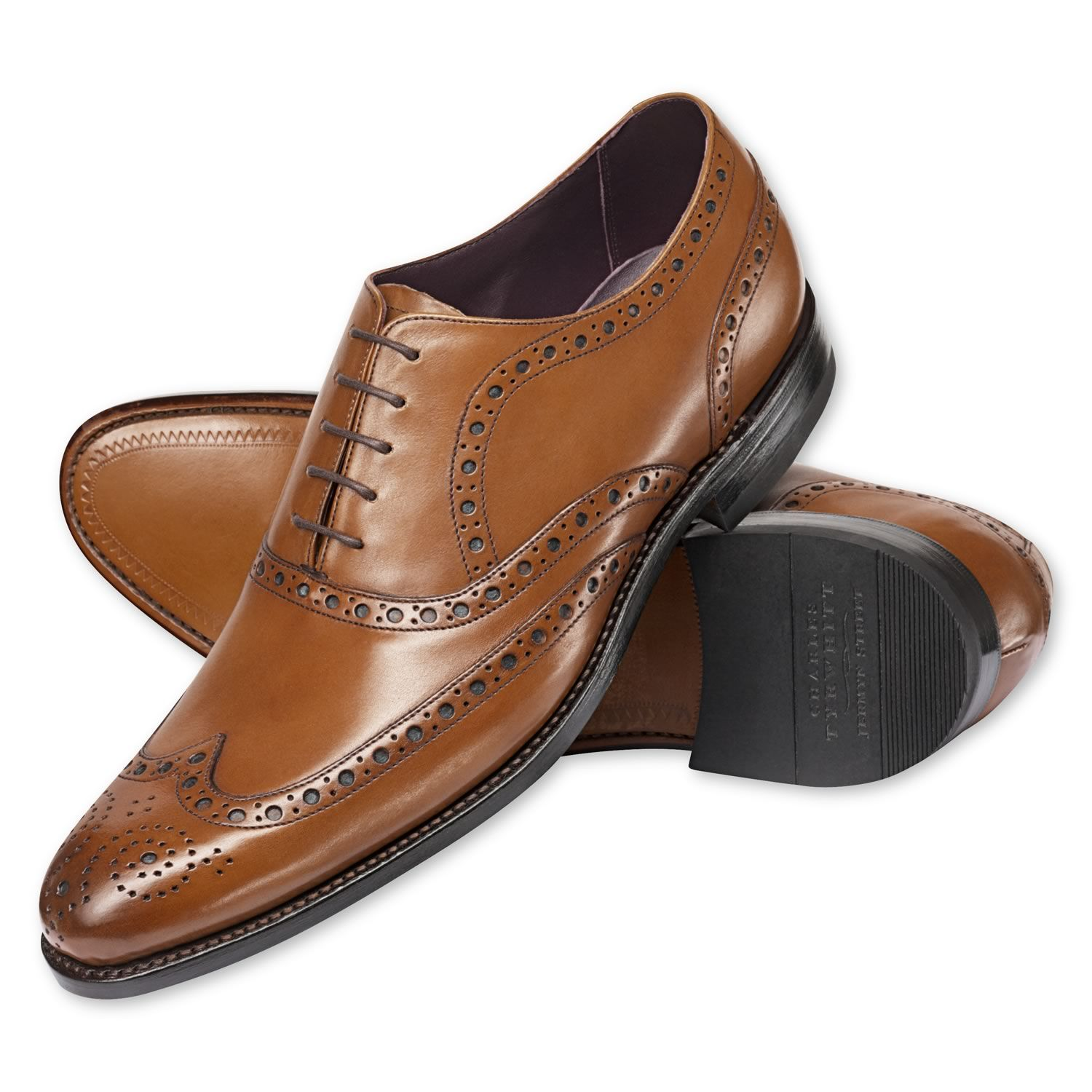 Brown Kirkby Black Label brogue shoes | Men's business ...