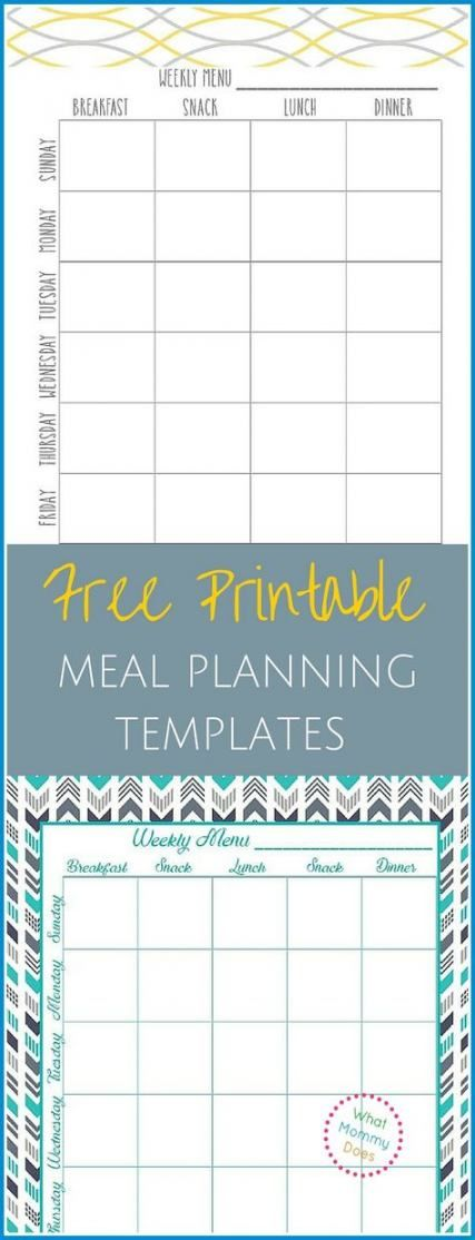 25 Trendy Fitness Planner Templates Weekly Menu #fitness
