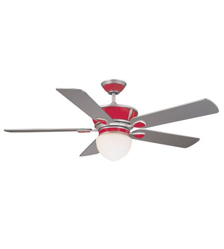Savoy House Retro The Rocket 52in Indoor Ceiling Fan In Red Zinger