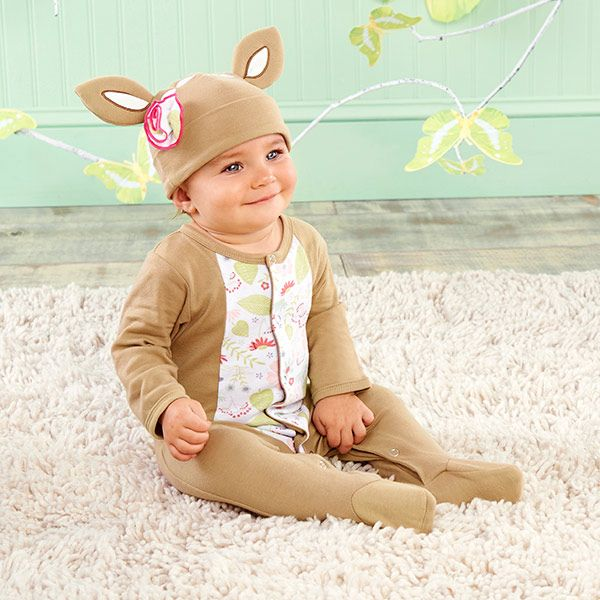 """Oh dear! A """"Dear Sweet Deer"""" Pajama Gift Set is a precious gift for a baby girl!"""
