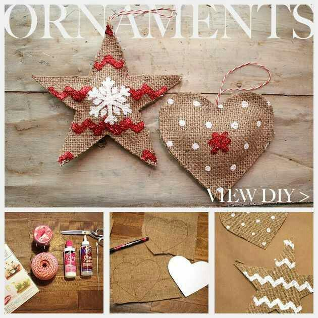 Burlap Christmas décor Pinterest Burlap, Ornament and Craft