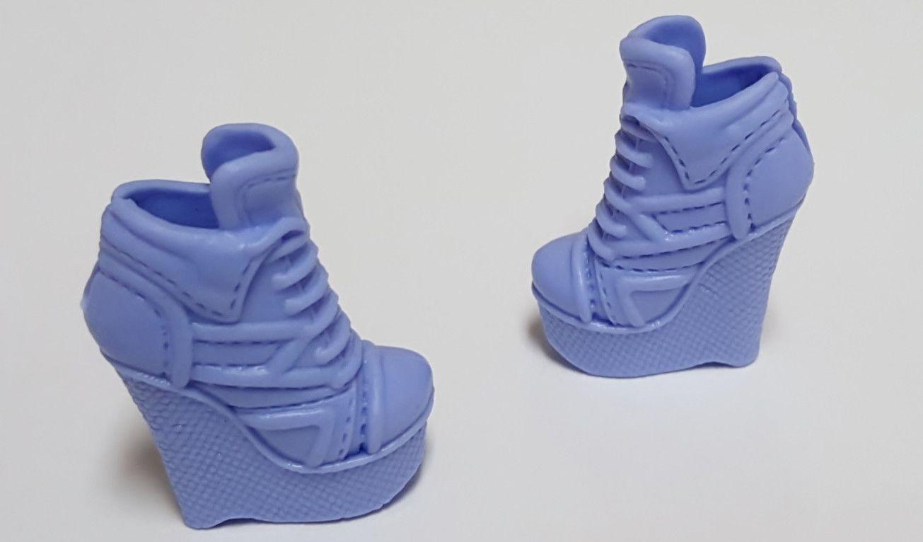 Barbie Purple High Heel Wedge Boots